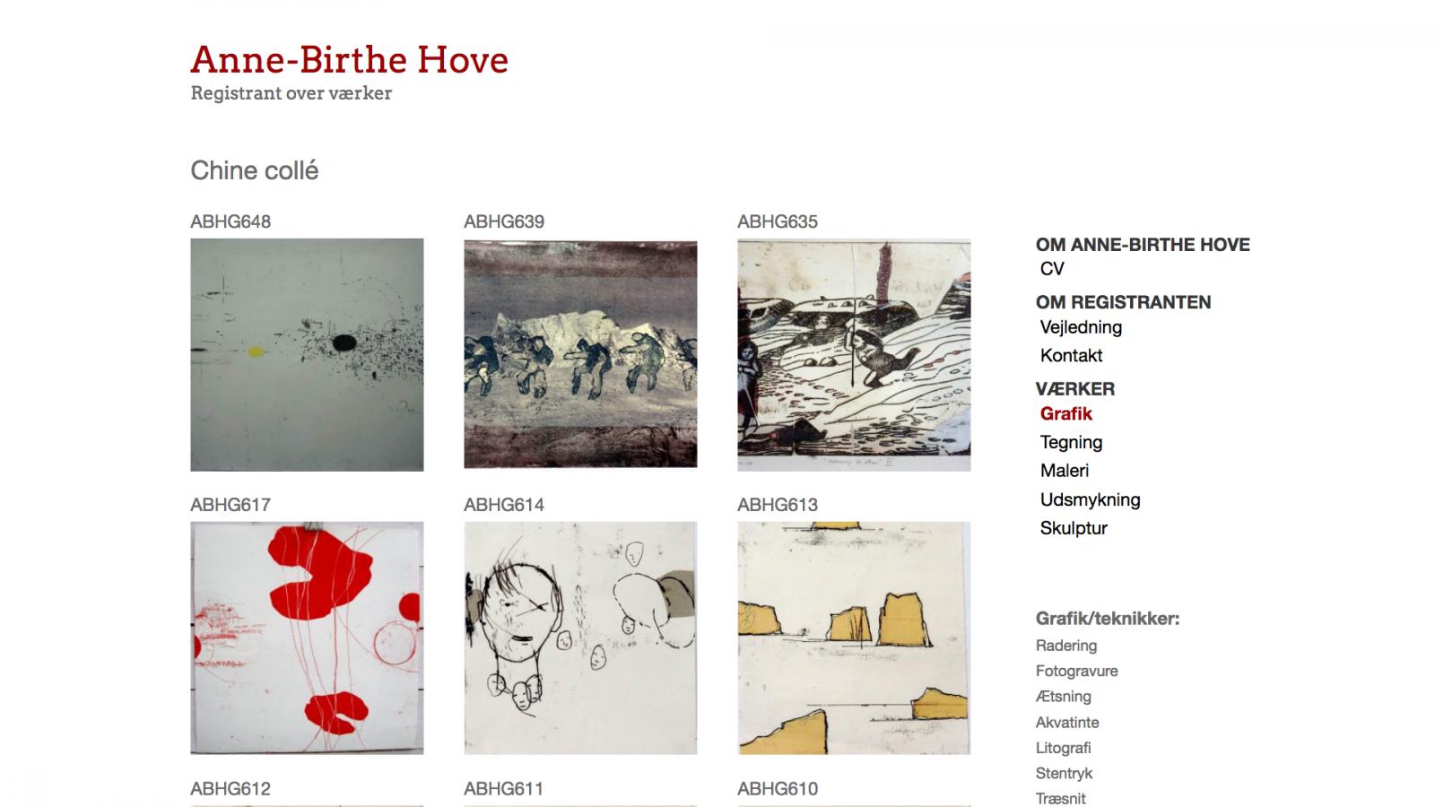 annebirthehove.com - desktop version.