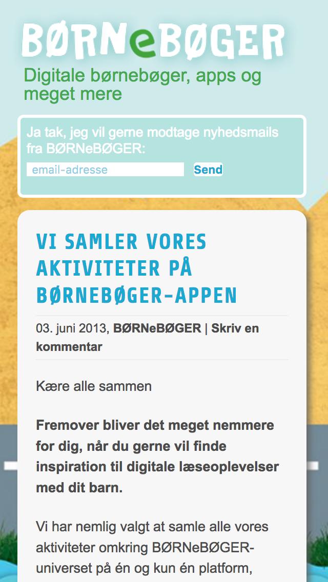Børnebøger.nu - smartphone version.