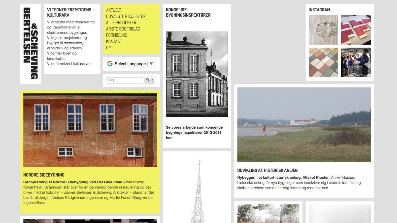 bsarkitekter.dk - desktop version.