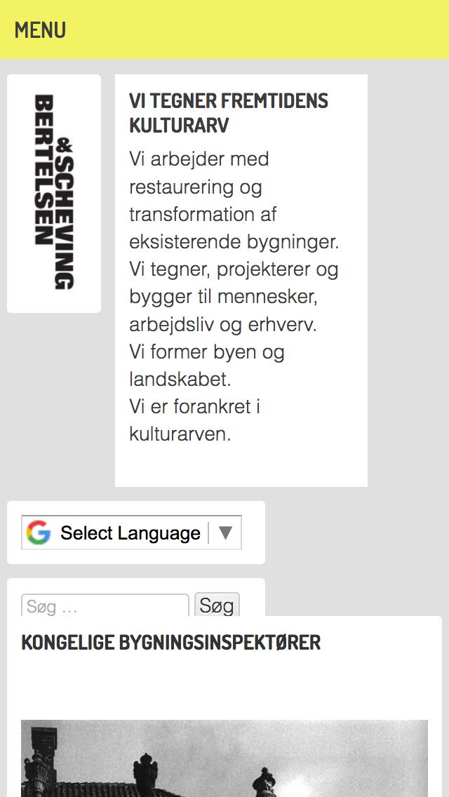 bsarkitekter.dk - smartphone version.