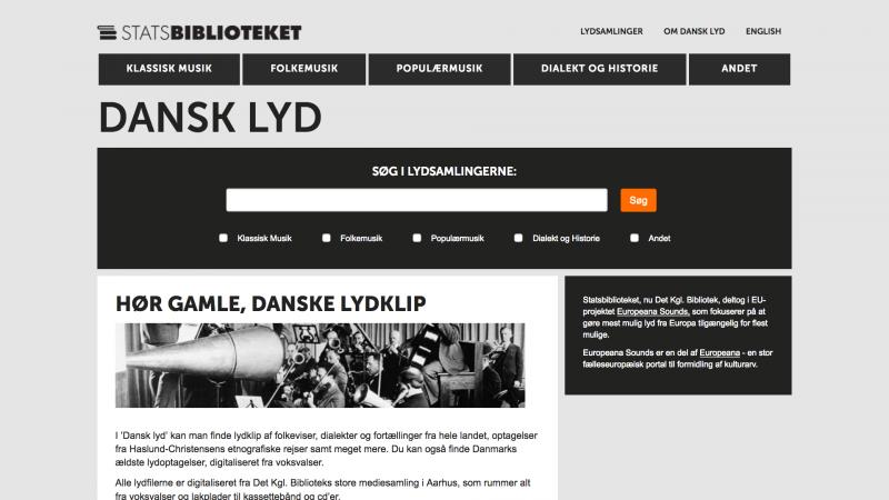 dansklyd.statsbiblioteket.dk - desktop version .