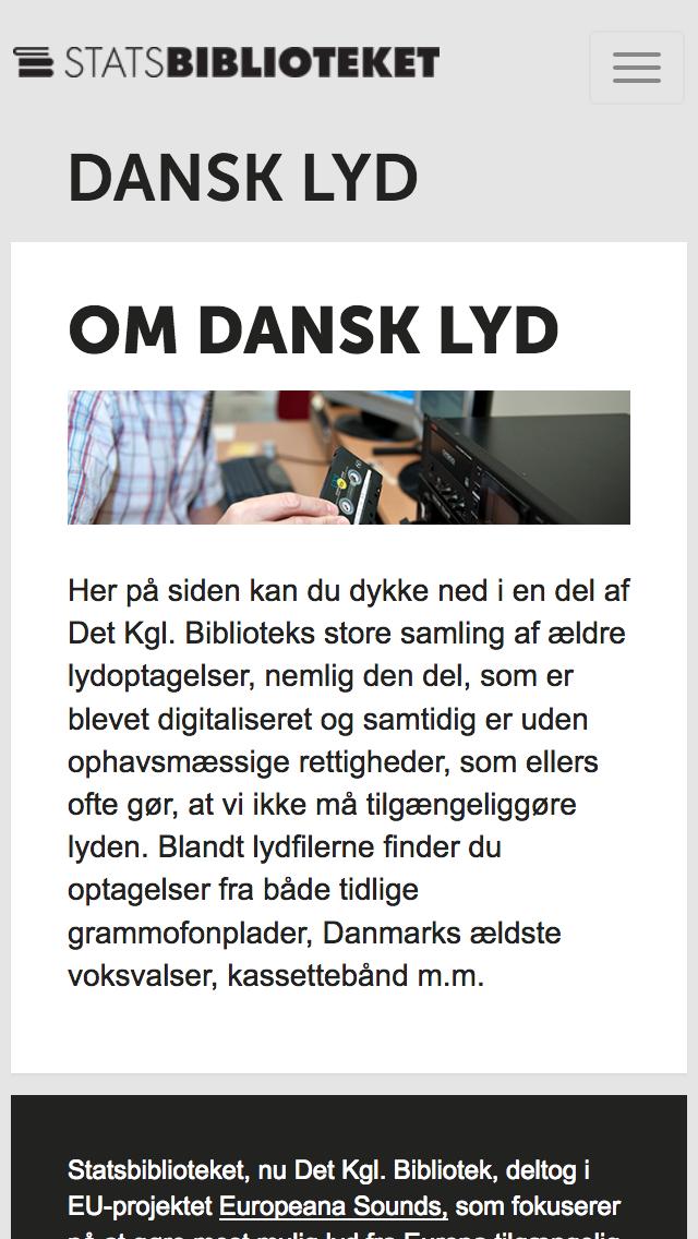dansklyd.statsbiblioteket.dk - smartphone version.