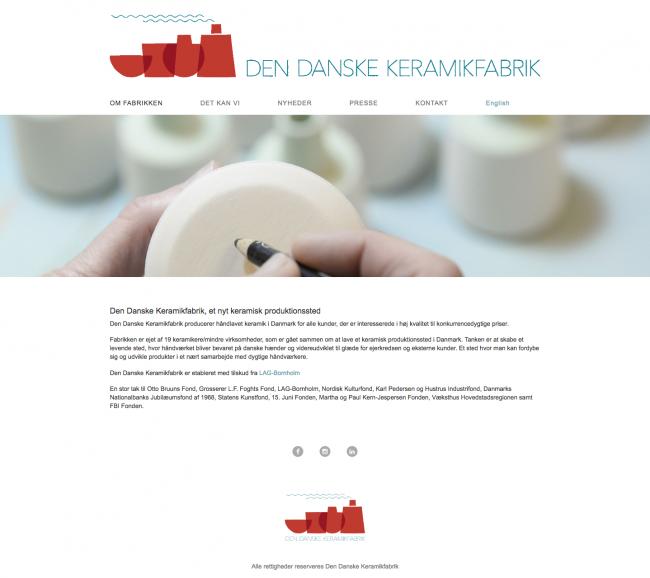 dendanskekeramikfabrik.dk - screenshot.