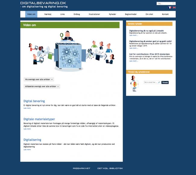 digitalbevaring.dk - screenshot.