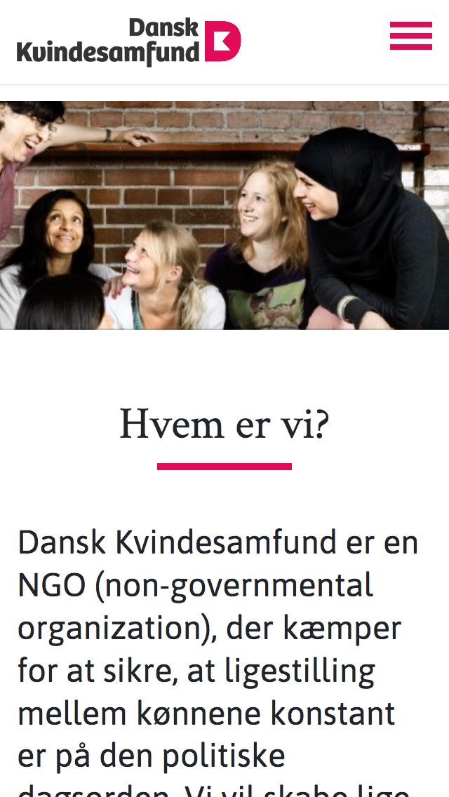 danskkvindesamfund.dk - smartphone version.