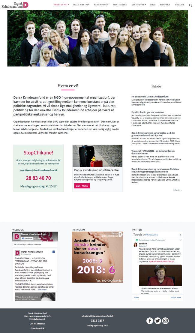 danskkvindesamfund.dk - screenshot.
