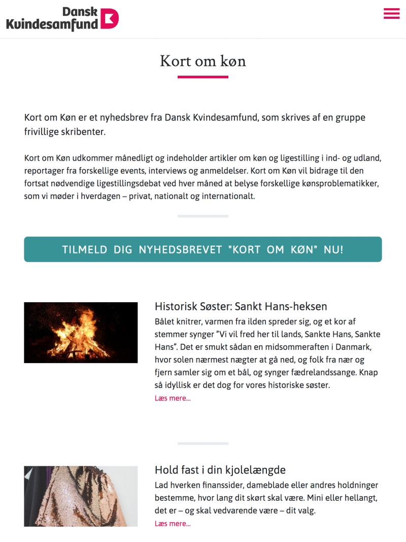 danskkvindesamfund.dk - tablet version.
