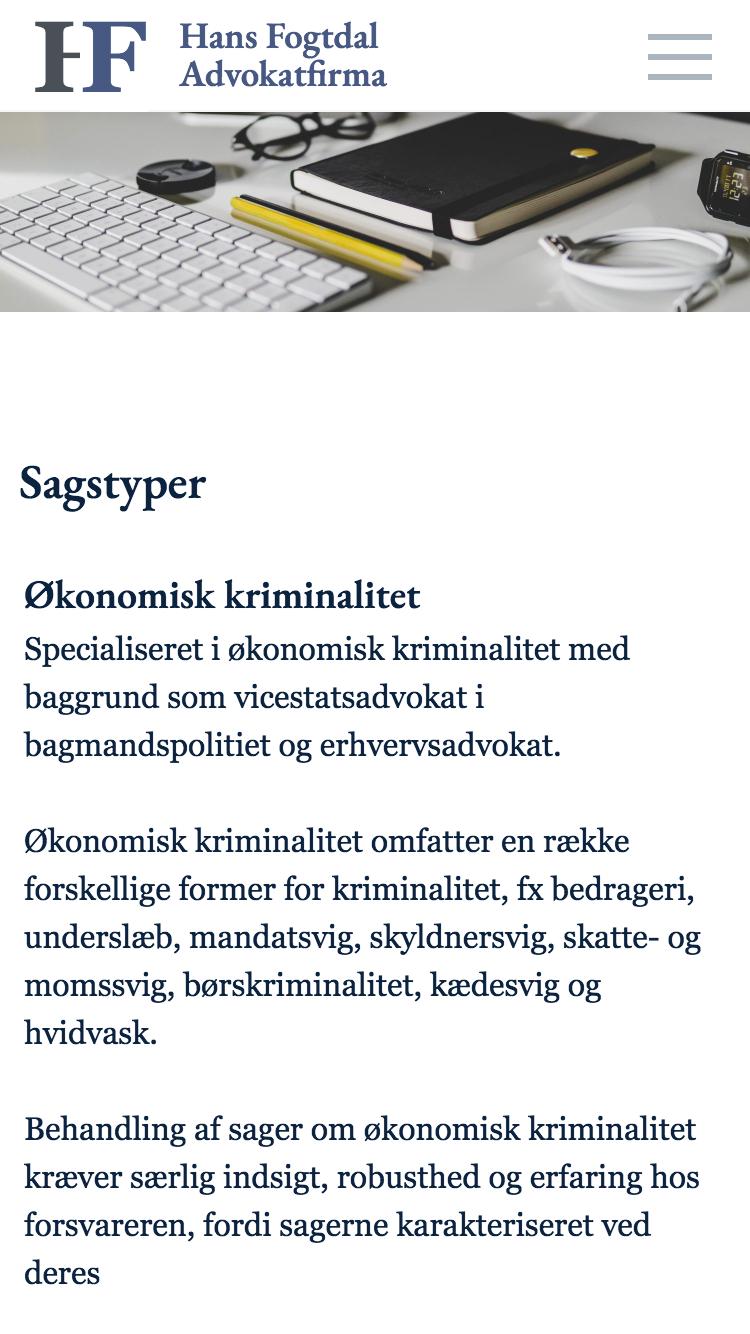 hflaw.dk - smartphone version.