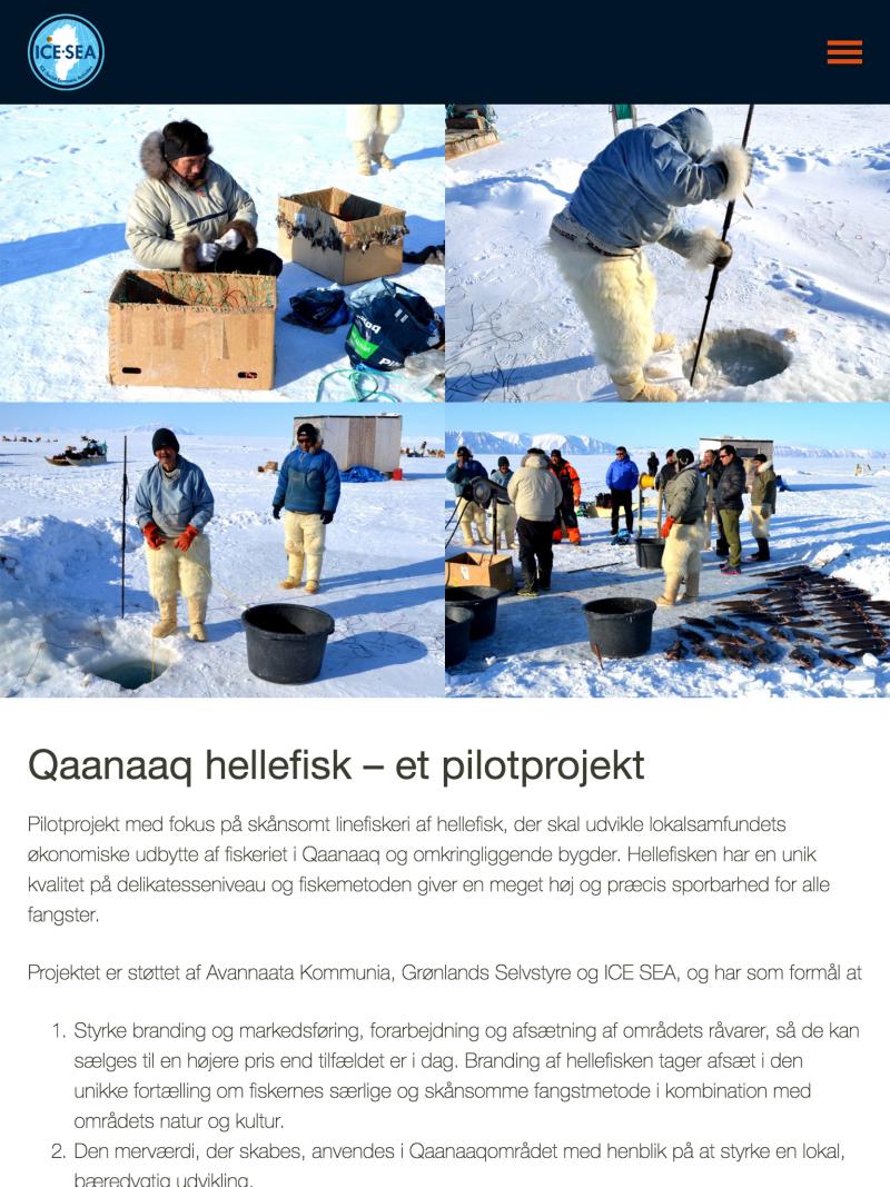 icesea.dk - tablet version.