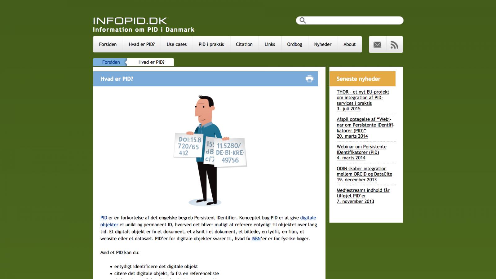 infopid.dk - desktop version.