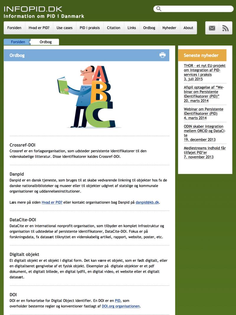 infopid.dk - tablet version.