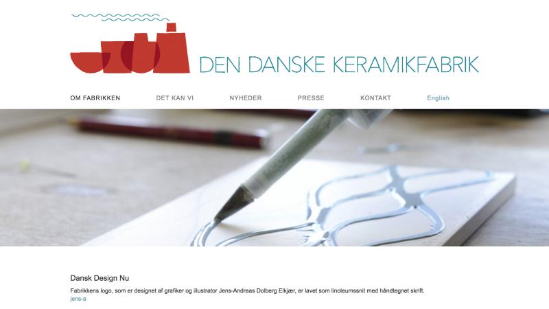 dendanskekeramikfabrik.dk - desktop version.