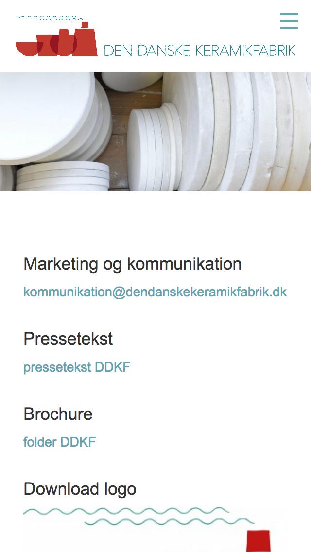 dendanskekeramikfabrik.dk - smartphone version.