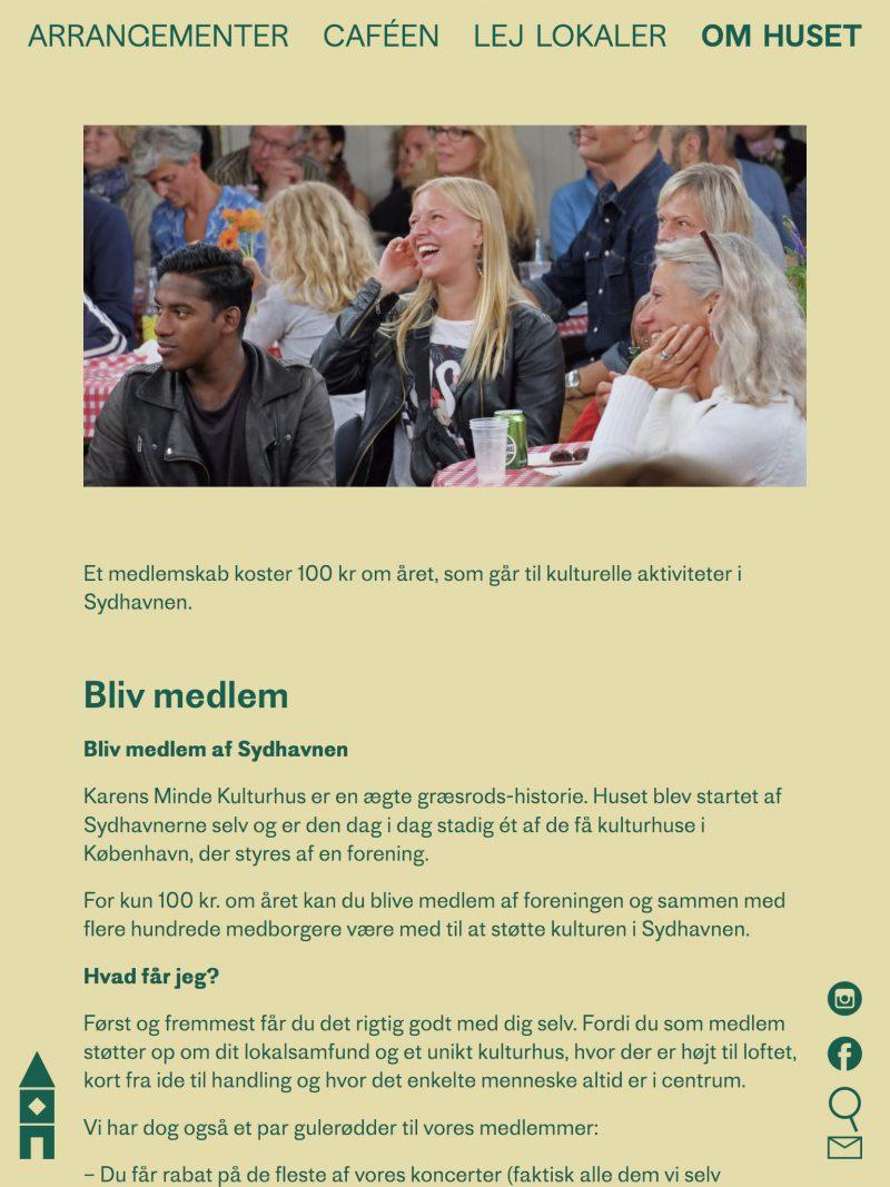 kmkulturhus.dk - tablet version.