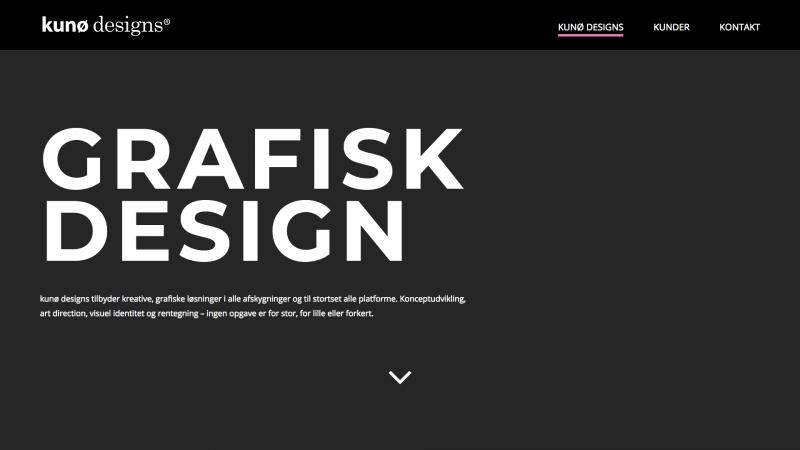kunodesigns.dk - desktop version.