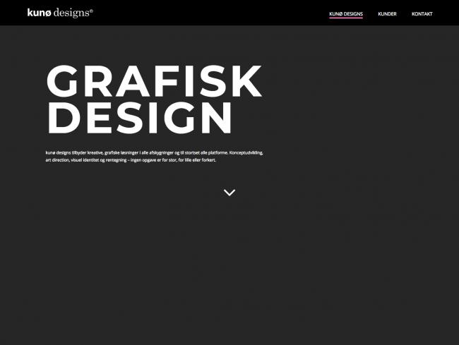 kunodesigns.dk - screenshot.