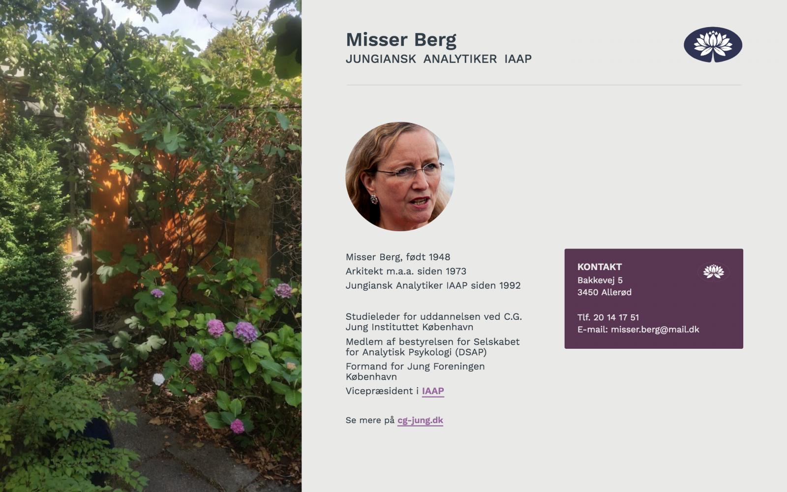 misserberg.dk - desktop version.