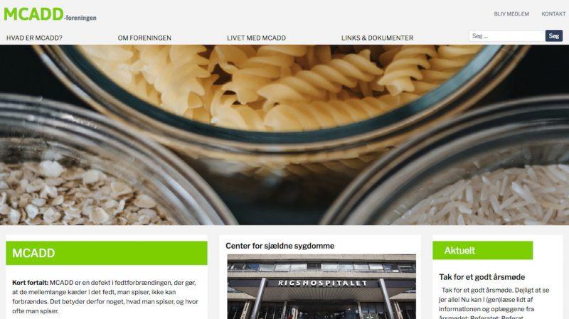 Desktop-udgaven af mcadd.dk - et WordPress website.