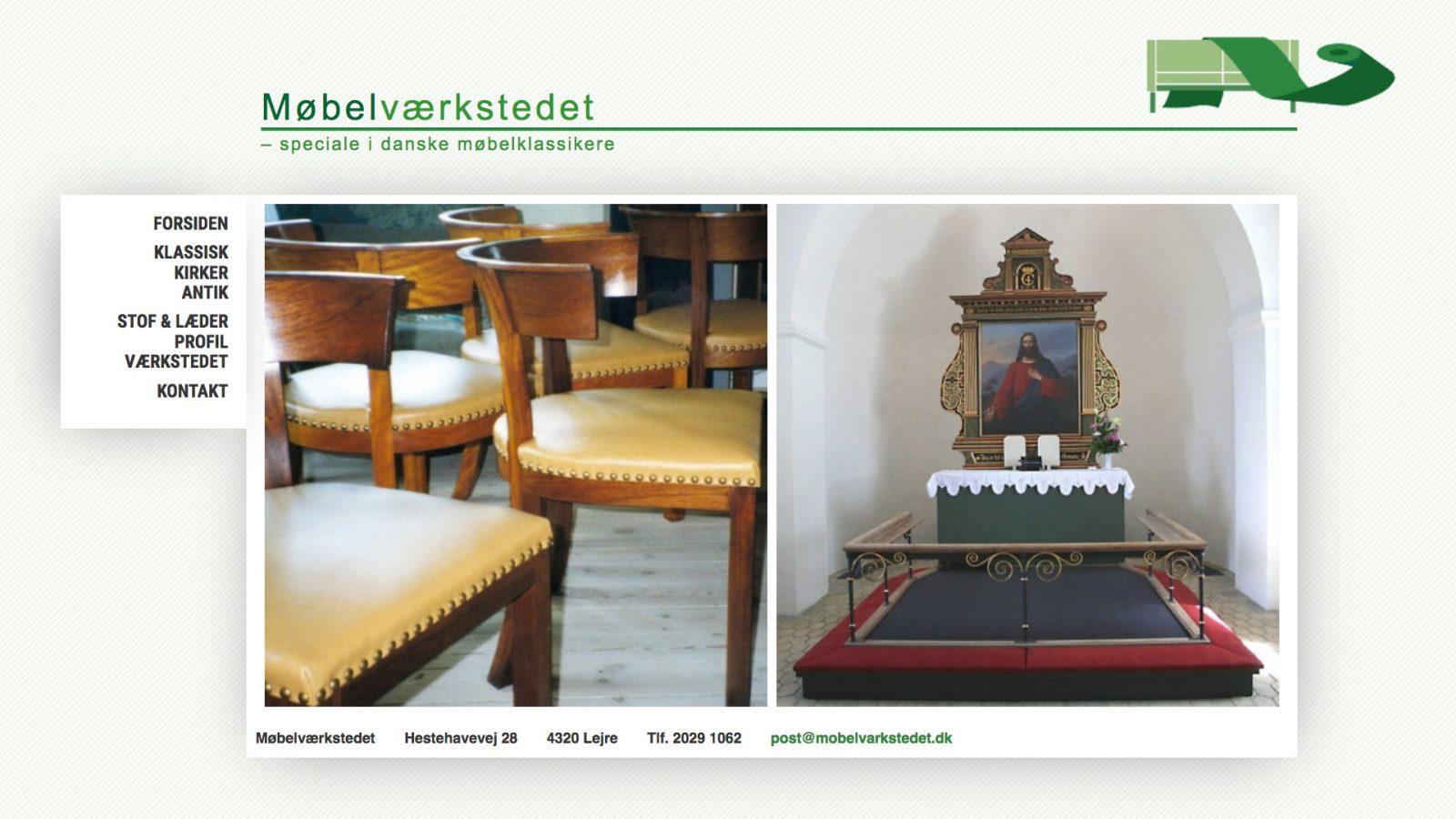 mobelvarkstedet.dk - desktop version