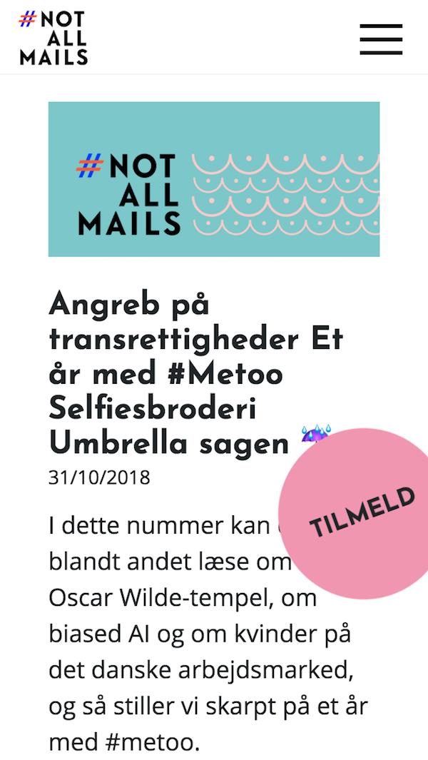 notallmails.dk - smartphone screenshot