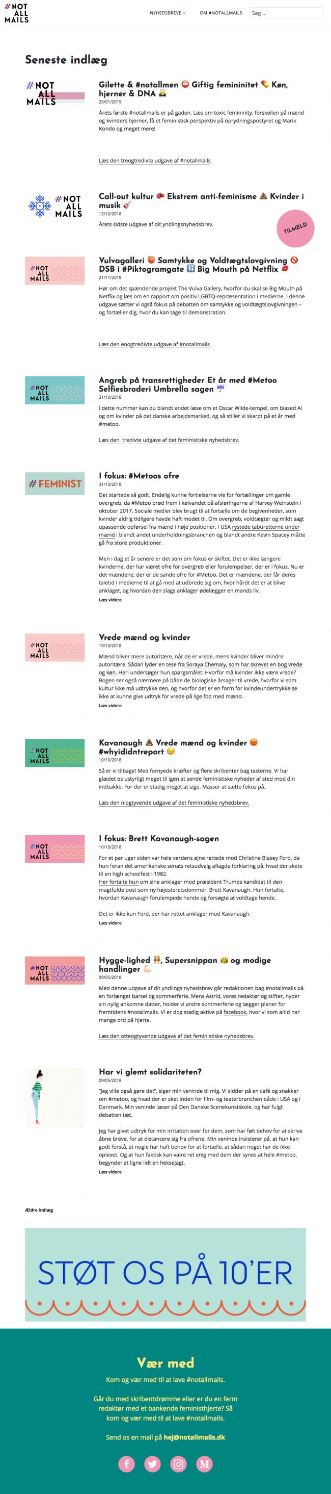 notallmails.dk - screenshot