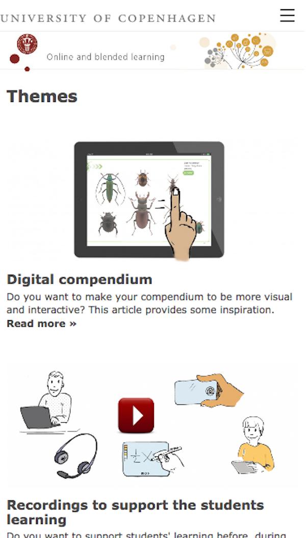 Online Blended Learning, Københavns Universitet.