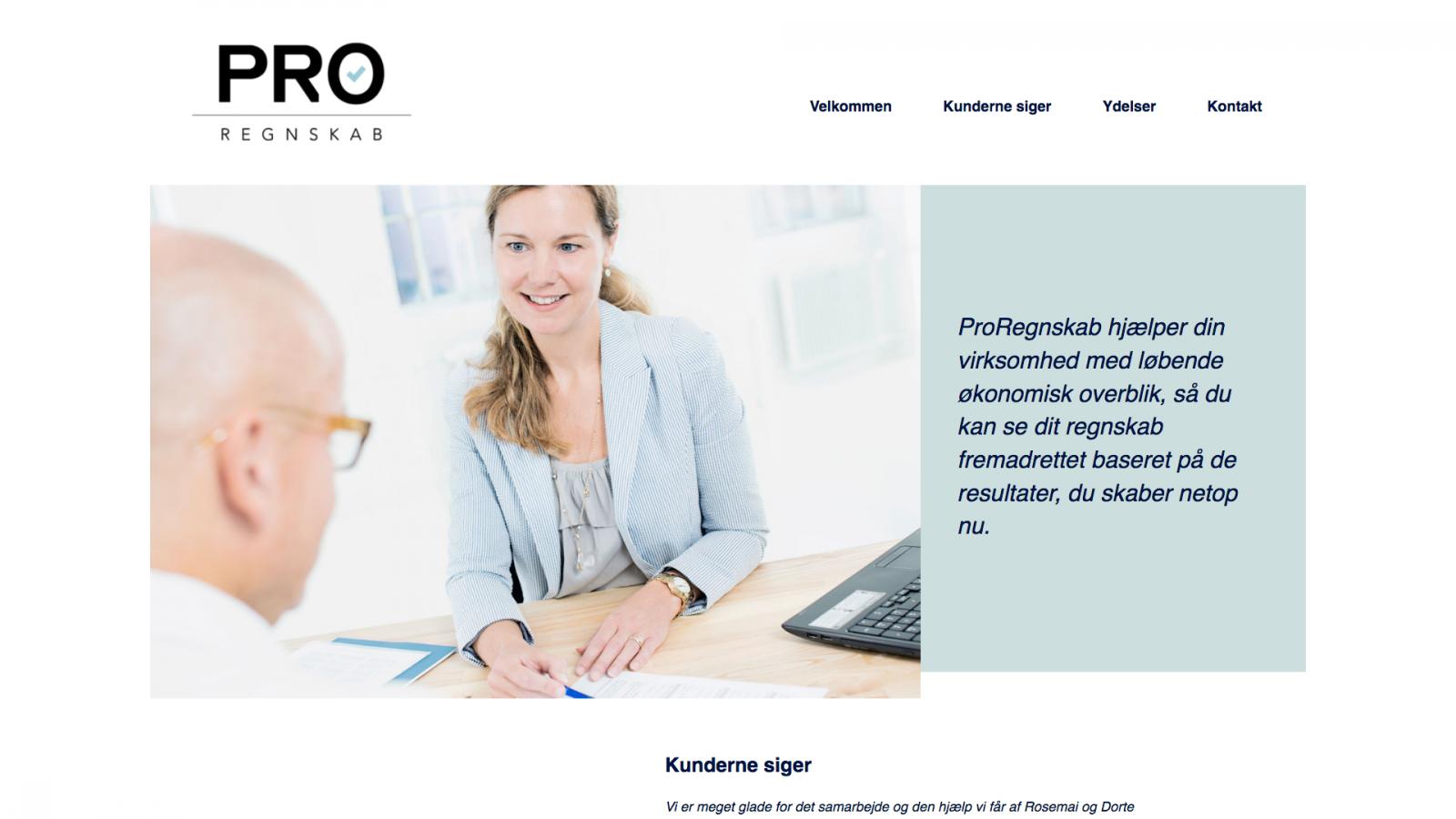 proregnskab.dk - desktop version.