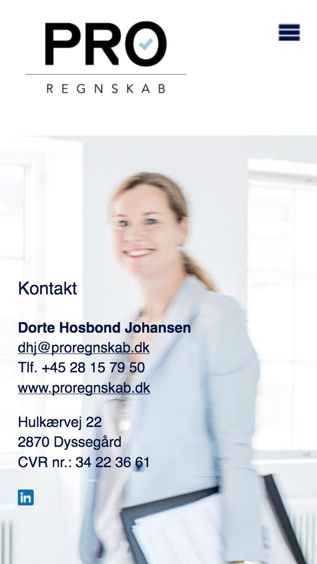 proregnskab.dk - smartphone version.