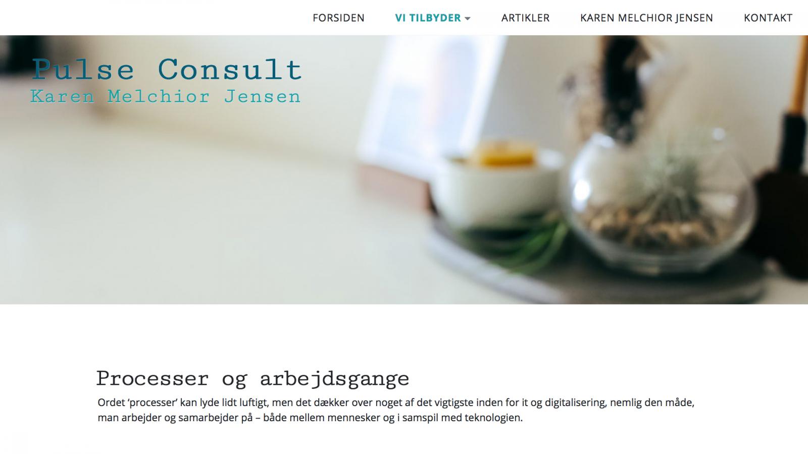 pulseconsult.dk - desktop version.