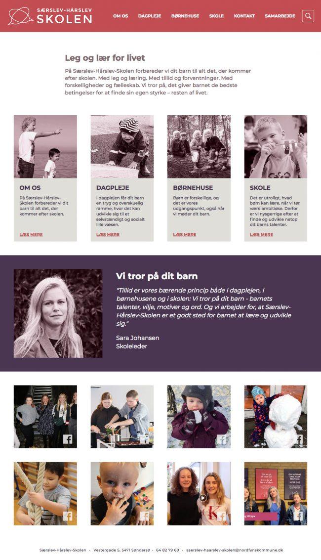 saerslev-haarslev-skolen.dk screenshot