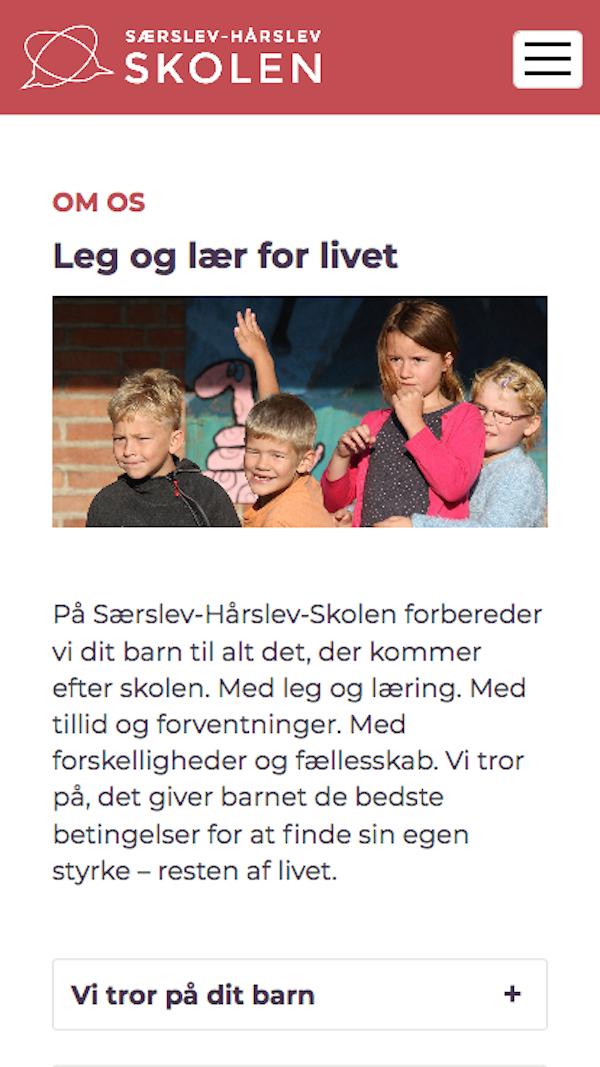saerslevhaarslevskolen.dk - smartphone version