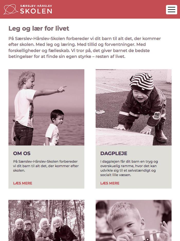 saerslevhaarslevskolen.dk - tablet version