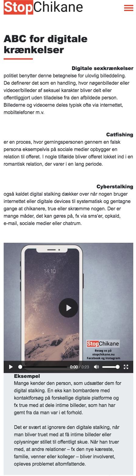 stopchikane.nu - screenshot smartphone