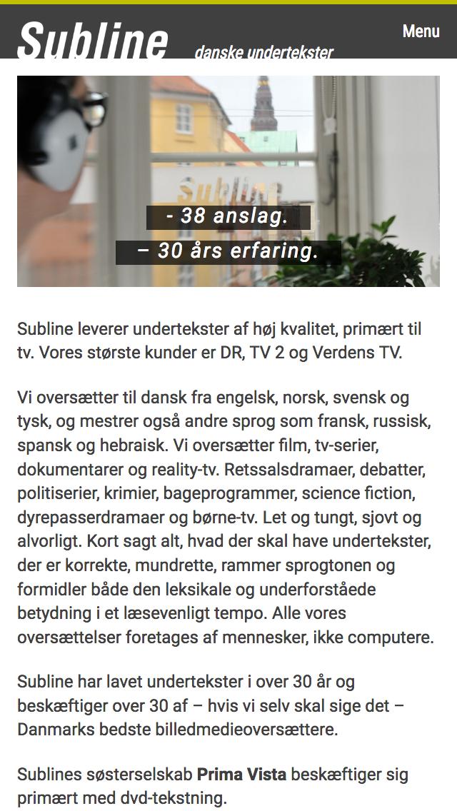 subline.dk - smartphone version.