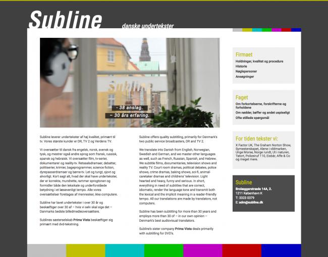 subline.dk - screenshot