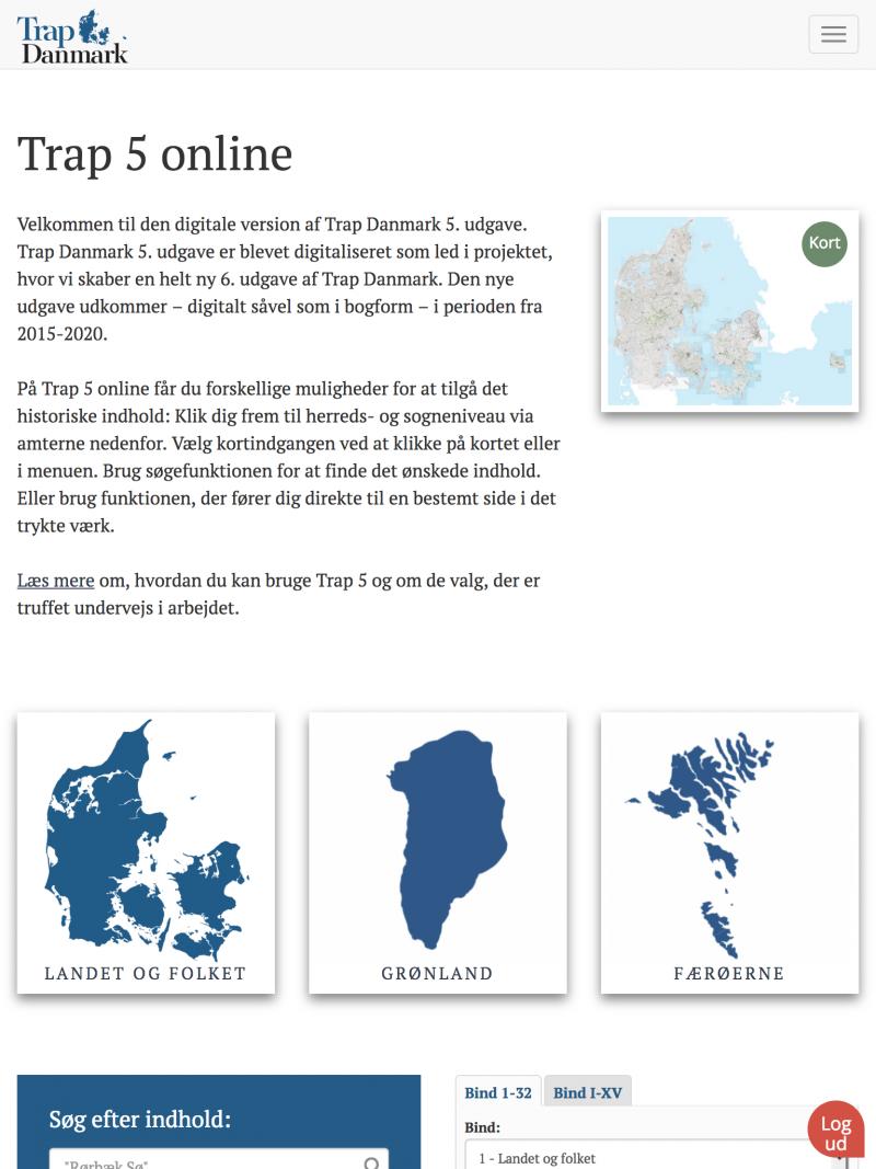 trap5.dk - tablet version.