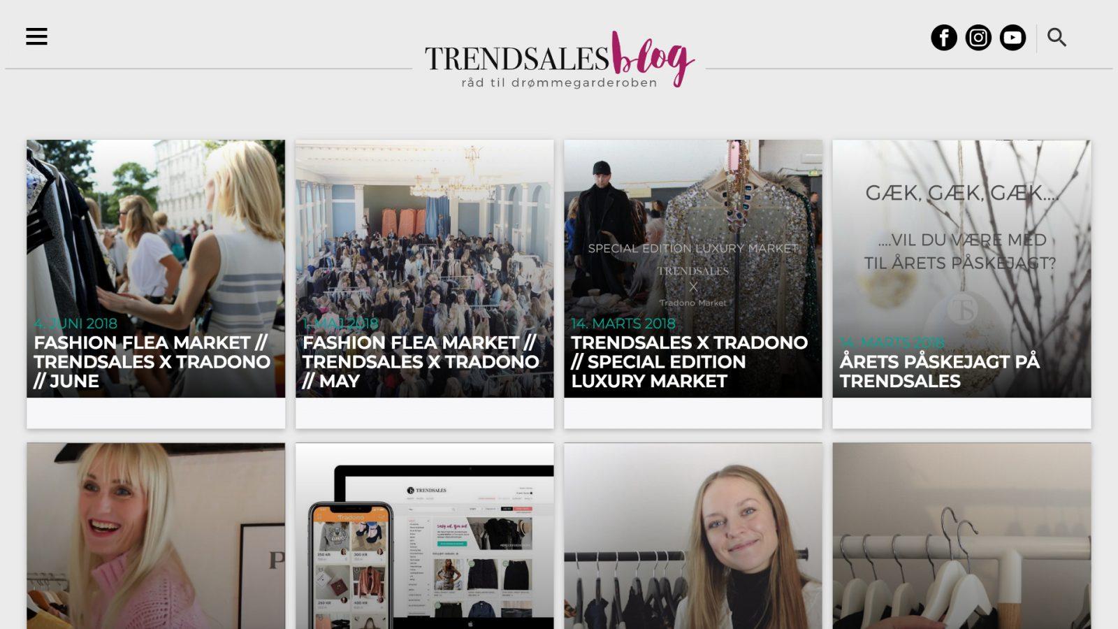 trendsales.dk - tablet version.