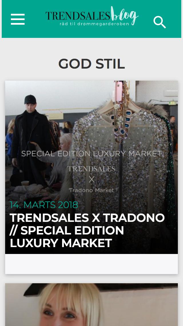 trendsales.dk - smartphone version.