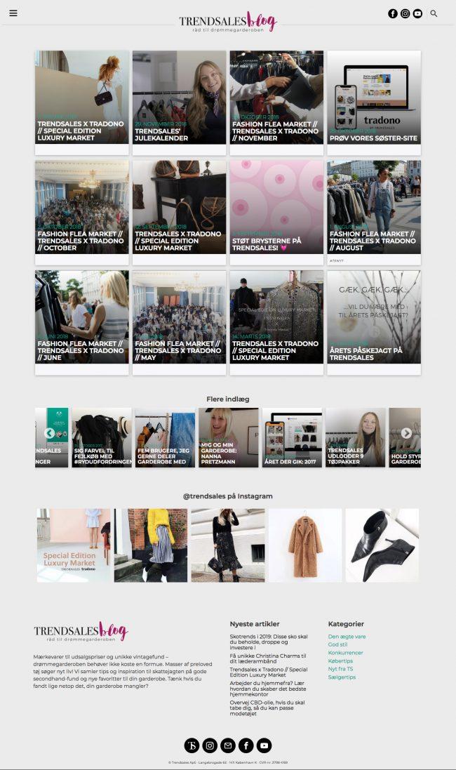 trendsales.dk screenshot.