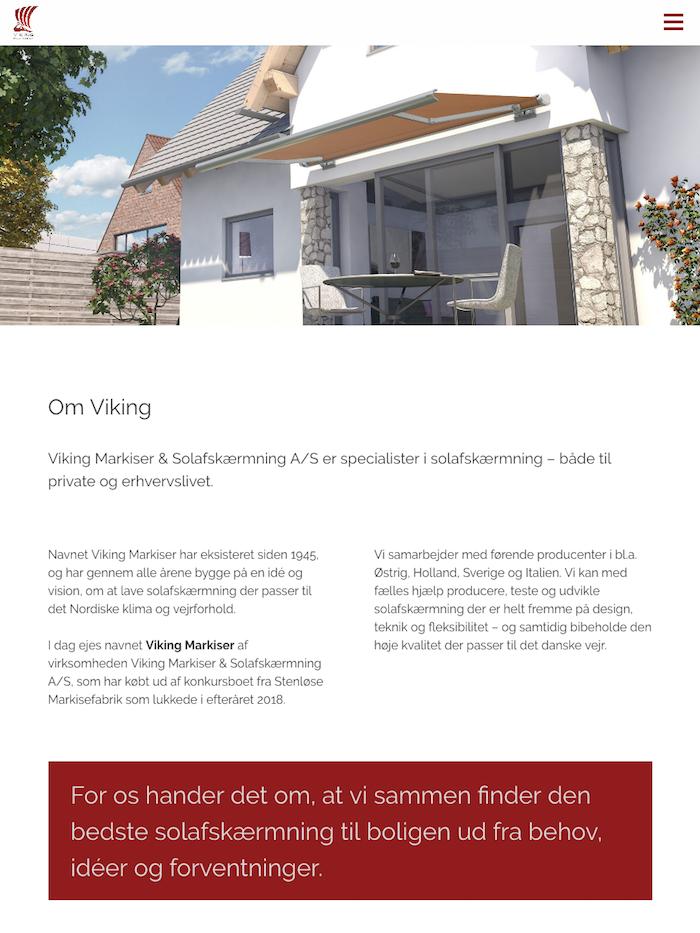 vikingmarkiser.dk - tablet version.