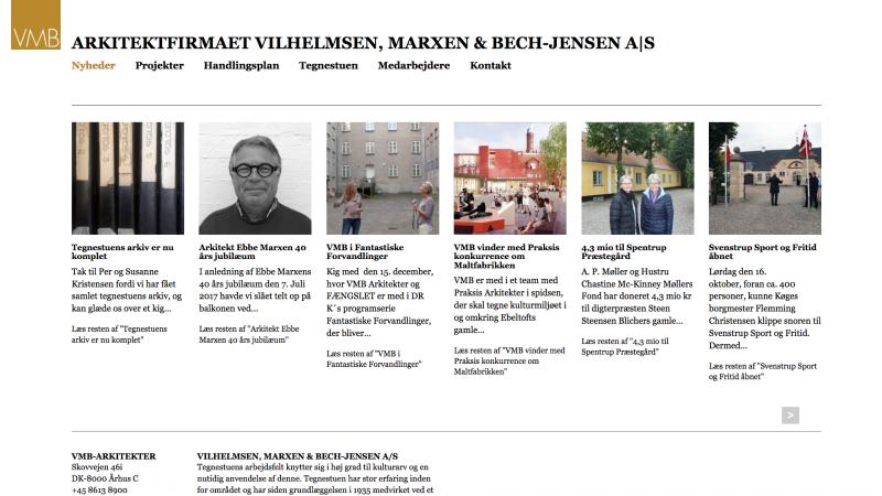 vmb-arkitekter.dk - desktop version.