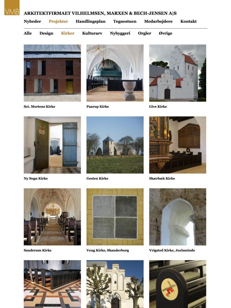 vmb-arkitekter.dk - tablet version.